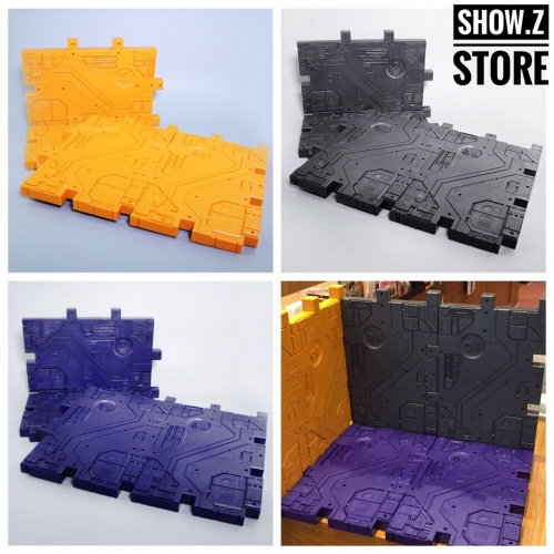 Magic Scenery Display Bases 4 Pieces (Grey, Purple, Yellow)