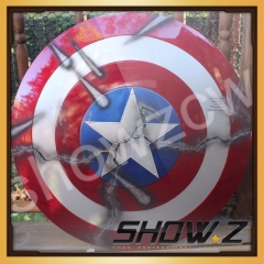 [ABS Made] V2.0 CATTOYS 1:1 Captain America Shield Extreme Damaged Version Prop&Replica