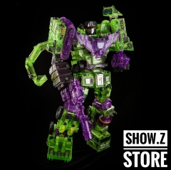 Toyworld TW-C07C Constructor Devastator Clear Version Full Set of 6 Figures TW-07C Clear Constructor