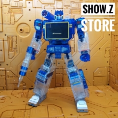 THF Toy House Factory Soundwave MP-13 Clear Version (/w Laserbeak + Buzzsaw)