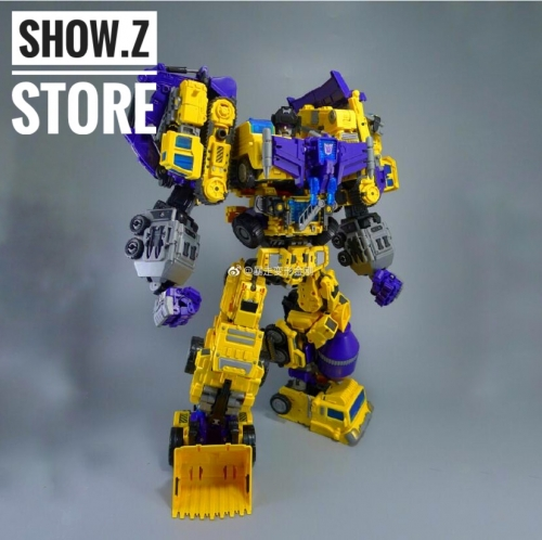 NBK Devastator TF Engineering Full Set of 6 Yellow Version