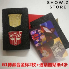 Lewin Autobot Metal Insignia & Communicator Stickers for Lewin Resources Lewin-01 Optimus Prime