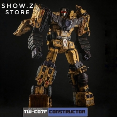 Toyworld TW-C07F Constructor Devastator Yellow Battle Damaged Limited Version Set of 6