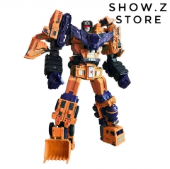 Toyworld TW TWC07E TW-C07E Orange Constructor Devastator Orange Version Set of 6