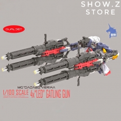 Zhile ZL MG 1/100 4X Sazabi MSN-04 Gatling Gun Add On Kit w/ LED