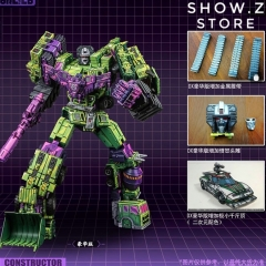 Toyworld TW TW-C07A TWC07A Constructor Devastator Cel Cell Shaded Deluxe Version Set of 6