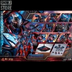 Hot Toys HotToys HT MMS547D34 1/6 Avengers: Endgame Iron Patriot Iron Man Collectible Figure