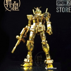 [SZ Custom] Bandai Custom MG RX-78-2 Gundam Ver.3.0 w/ Custom Electroplated Chrome Painting