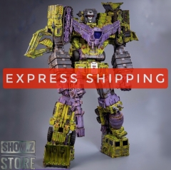 [Express Shipping] ToyWorld TW-C07G Constructor Devastator Old Green Battle Damage Version Set of 6