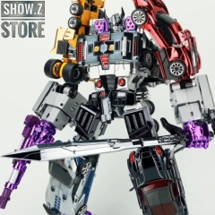 TransFormmission Havoc Menasor Combiner Set of 5 Chrome Version