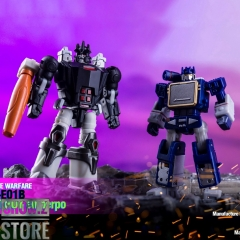 Dr.Wu DW-E01B Destroy Emperpo Galvatron Black Version & DW-E02 Monitor Officer Soundwave Set of 2