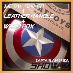 [Metal Made] CATTOYS 1:1 Captain America Shield Perfect Version w/ Wooden Box
